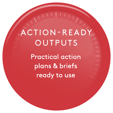 Action-ready outputs